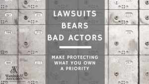 , Lawsuits, Bears, and Bad Actors: Make Protecting What You Own a Priority