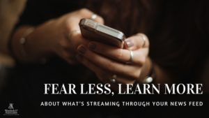 , Fear less, learn more about what's streaming through your news feed