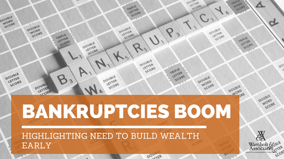 , Bankruptcies boom, highlighting need to build wealth early