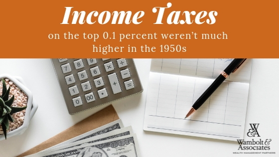 Income taxes on the top 0.1 percent weren't much higher in the 1950s