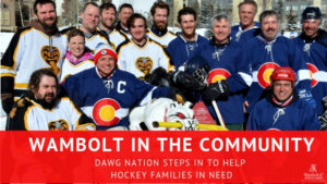 , Wambolt in the Community: Dawg Nation steps in to help hockey families in need