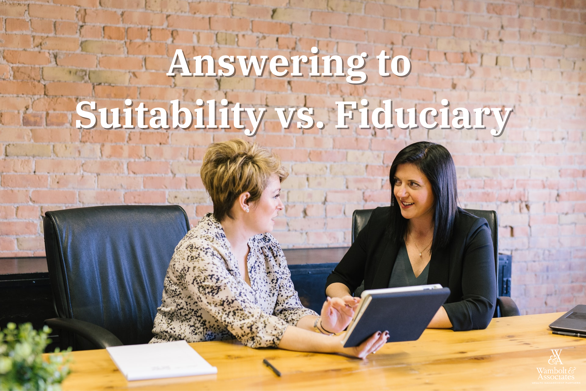 Answering to Suitability vs. Fiduciary